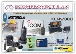 ecomproyect s.a.cl. venta y servicio t�cnico de equipos de radios port�tiles
